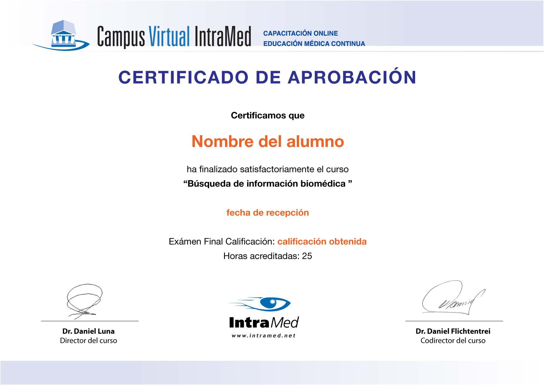IntraMed - Cursos - Curso de Búsqueda de Información Biomédica